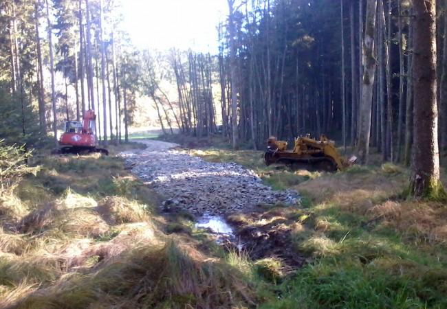 Anlegen einer neuen Forststraße
