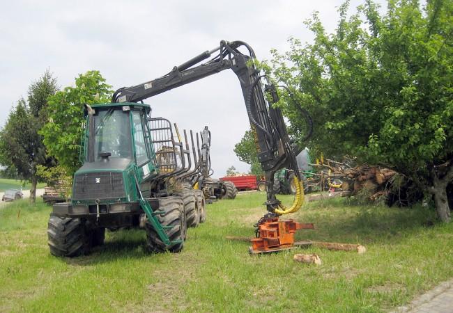 Rückezug mit Energieholzgreifer